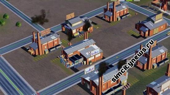 Промышленное загрязнение в Сим Сити 5