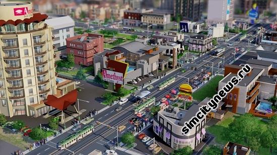 Машины, автобусы, такси и метро в SimCity