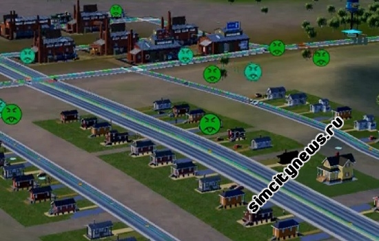 Загрязнение воды приводит к болезням в SimCity