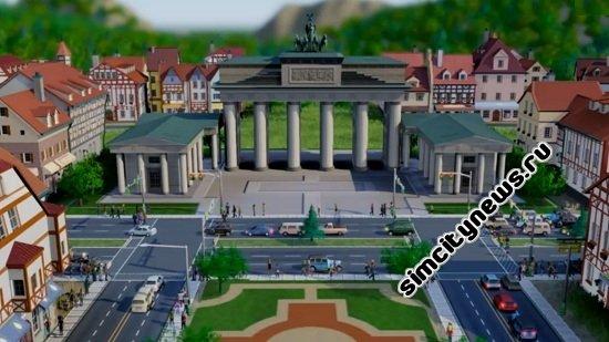 Немецкий город SimCity