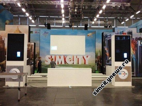 SimCity на выставке в Германии