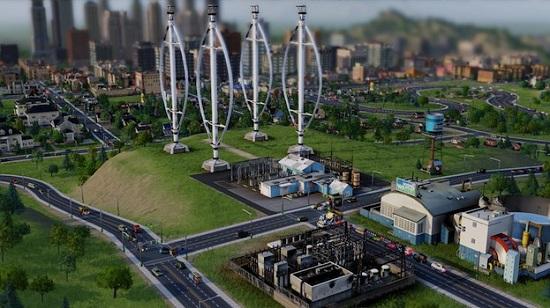 Четвертый этап строительства ветряной электростанции SimCity