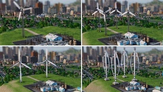 Этапы строительства ветряной электростанции в SimCity