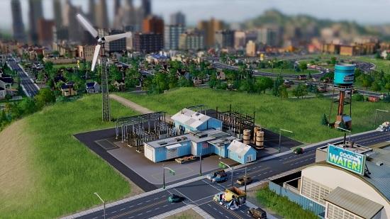Первая стадия строительства ветряной электростанции SimCity