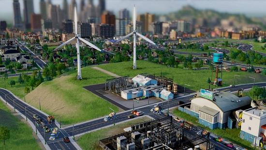 Третий этап строительства ветряной электростанции SimCity