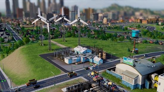 Вторая стадия строительства ветряной электростанции SimCity