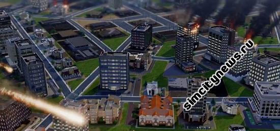 Метеоритный дождь разрушил город SimCity