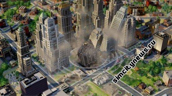 Землетрясение SimCity