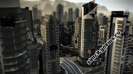 Чернеют здания в SimCity