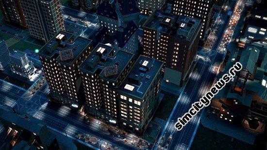 Движение машин в ночном городе