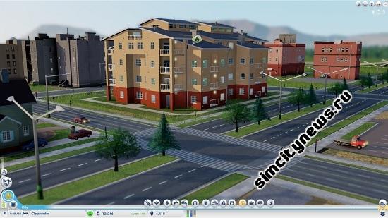 Красивый жилой дом в SimCity