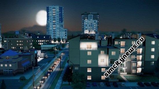 Ночь в SimCity - луна