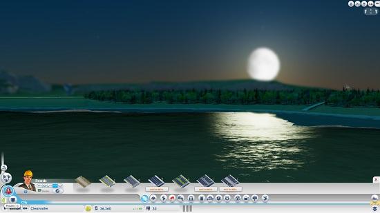 Ночь в SimCity