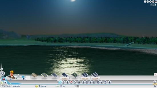 Отражение луны на воде