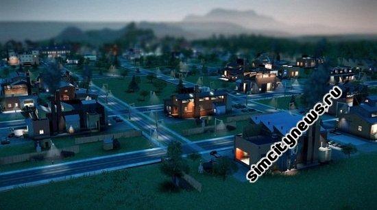 Промышленная зона ночью