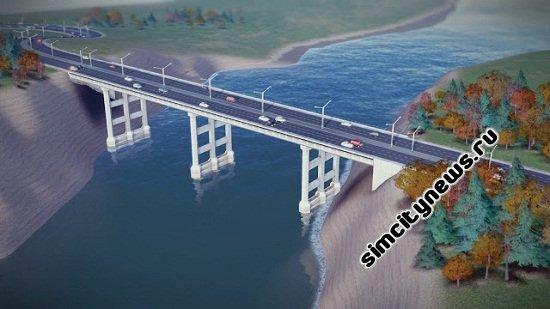 SimCity - дорожный мост через реку