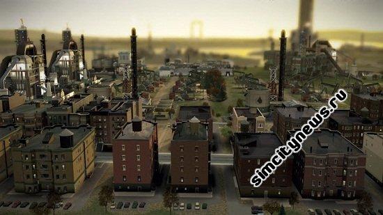 Жилые кварталы рядом с заводами