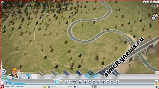 Большой интервал дорог