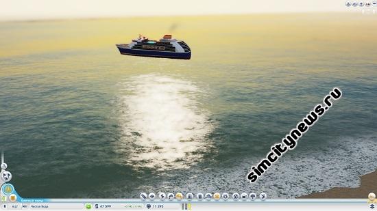 Пароход в SimCity