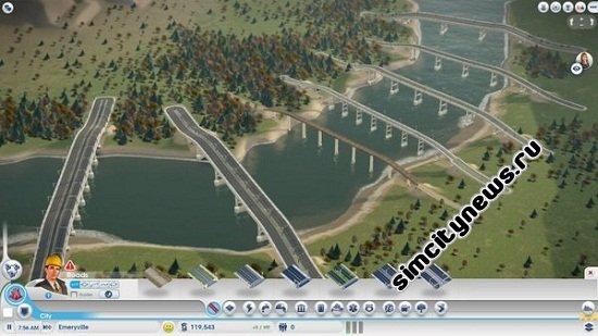 Строительство моста через реку