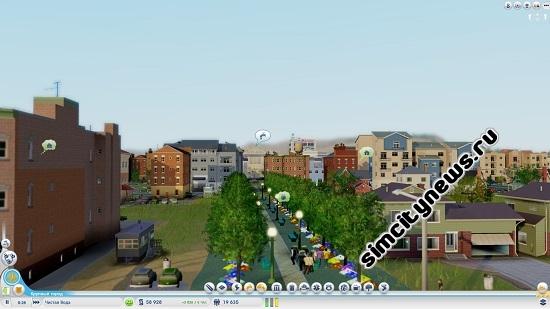 Зеленая аллея SimCity