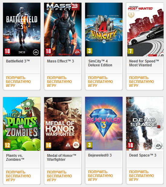 Игры EA (Electronic Arts)