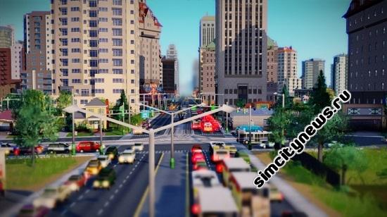 Трафик и пробки SimCity