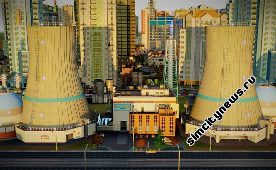 Атомная электростанция SimCity