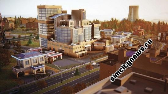 Больница в SimCity 2013