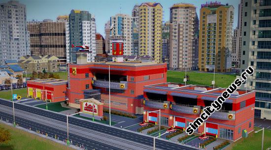 Большая пожарная часть SimCity