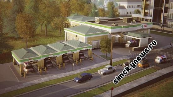 Клиника в SimCity 2013