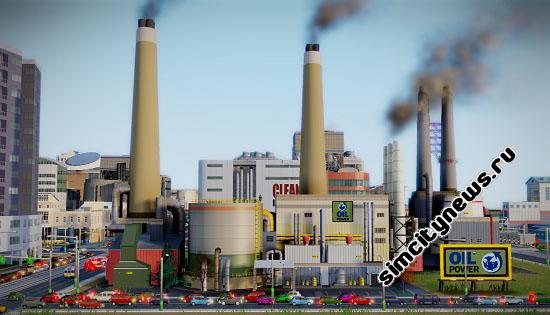 Нефтяная электростанция SimCity
