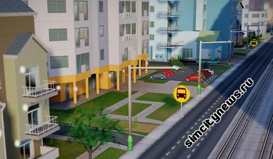 Остановка школьного автобуса SimCity