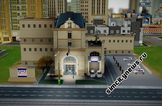 Отделение полиции французского города SimCity