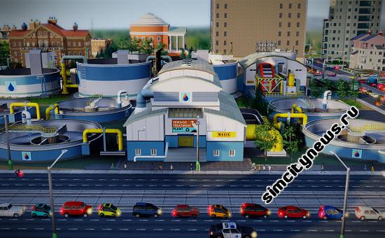 Переработка сточных вод SimCity