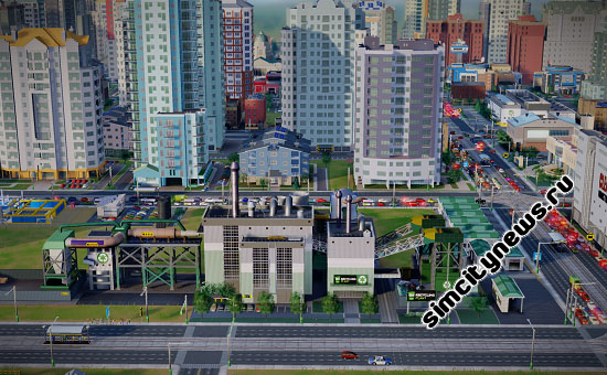 Переработка утильсырья в SimCity