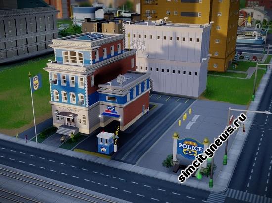 Работа отделения полиции SimCity