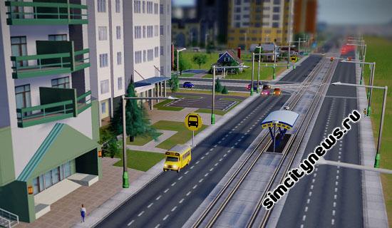 Школьный автобус в Симсити