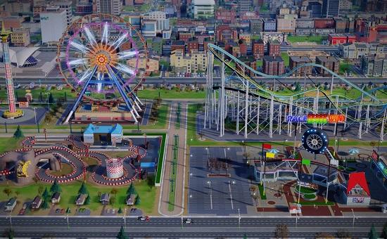 SimCity 5 парк аттракционов
