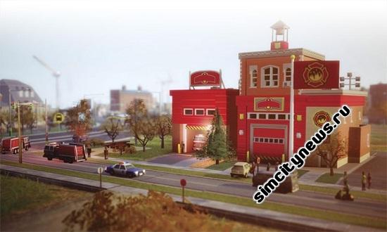 SimCity Пожарное депо