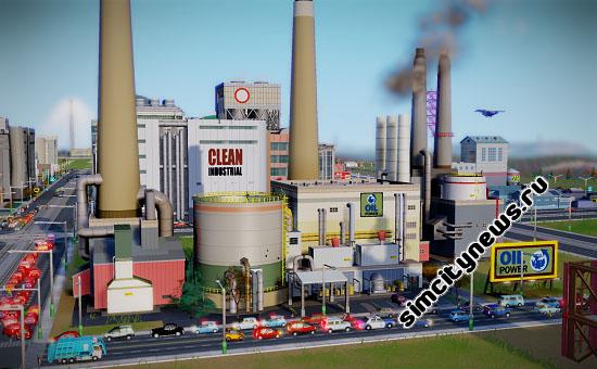 SimCity электростанция на нефти