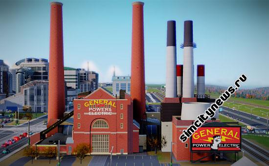 SimCity угольная электростанция