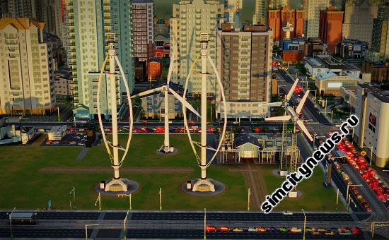 SimCity ветровая энергия