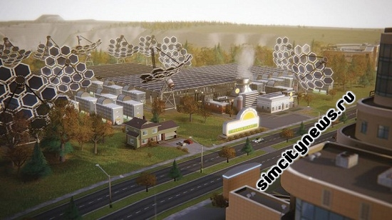 Simcity 5 солнечная електростанция