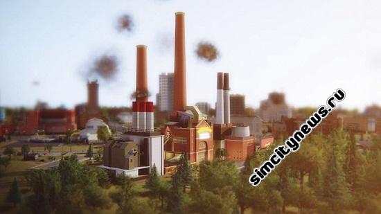 Simcity 5 угольная электростанция
