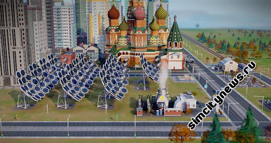 Солнечная электростанция в SimCity