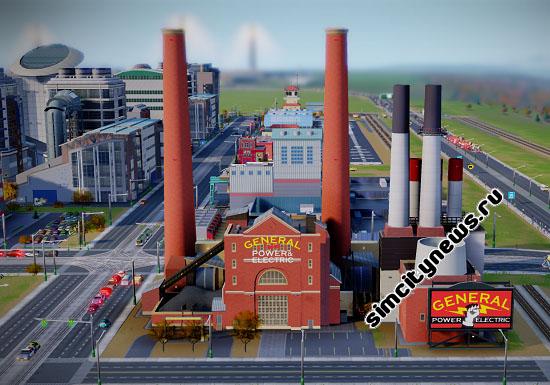 Угольная электростанция SimCity