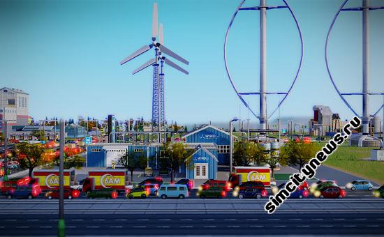 Ветровая электростанция SimCity
