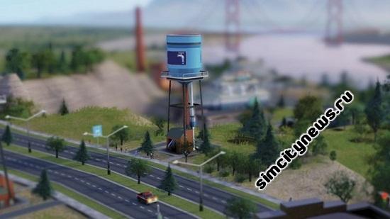 Водонапорная башня в Simcity 2013