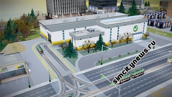 SimCity 2013 трамвай